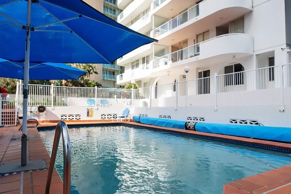 Alojamiento escuela de inglés EC English Gold Coast: Apartamentos confort Carlton 4