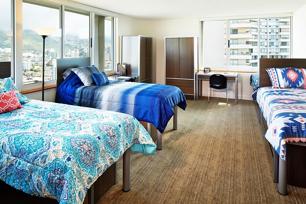 Alojamiento escuela de inglés Global Village Hawaii: Residencia Waikiki Vista Dormitory 4