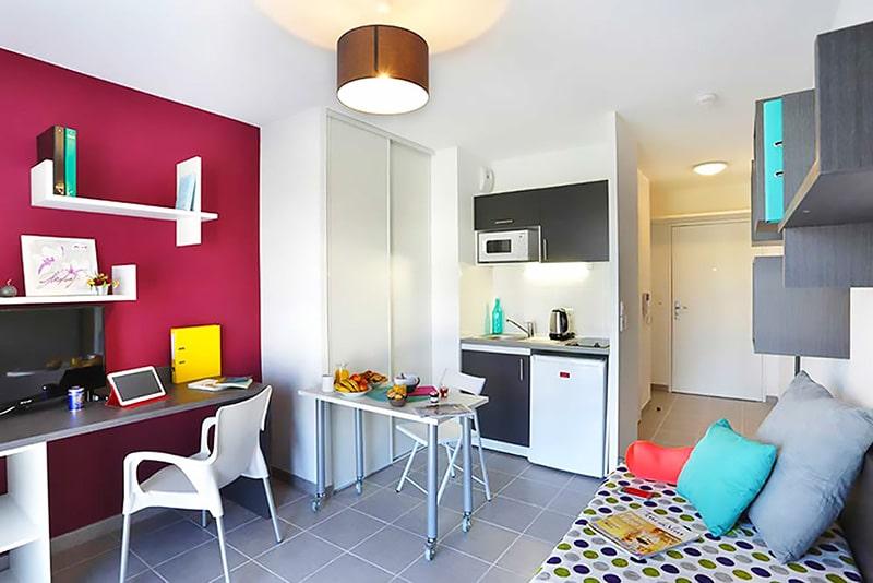 Alojamiento en residencia de estudiantes en Montpellier