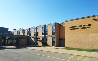 Colegio público Drumheller Valley Secondary School en Drumheller, Alberta